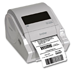 Food Label Printer  Brother TD 4000 Desktop 300dpi Direct Thermal     Save time and money by printing your own labels