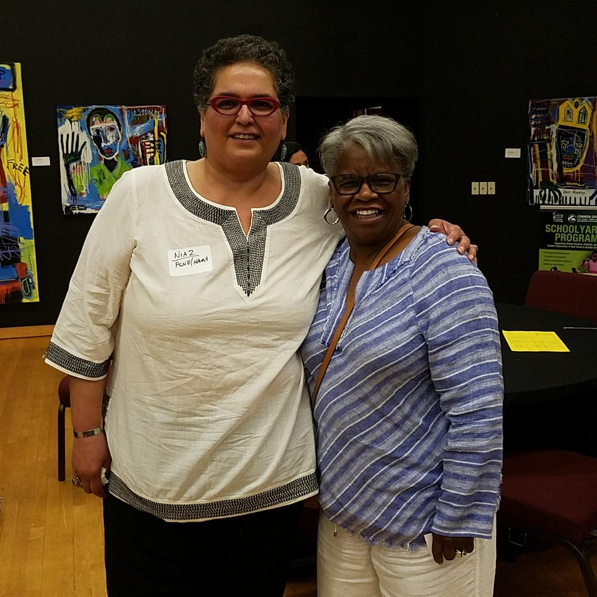 Niaz Dorry and Senator Marilyn Moore