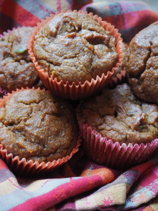 paleo pumpkin muffins with figs and pepitas