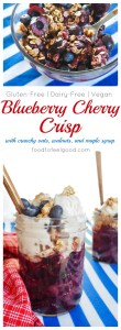 Gluten-Free Blueberry Cherry Crisp | Dairy-Free | Vegan | Healthy - this dish is perfect for the 4th or any summer BBQ!