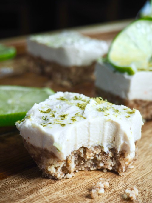 Raw Vegan Paleo Vanilla Lime Cheesecake Bars
