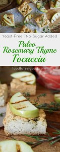 Paleo Rosemary Thyme Focaccia   Yeast-Free   No-Sugar Added   Gluten-Free   Dairy-Free   This savory bread is high in protein and fiber and tastes like Thanksgiving