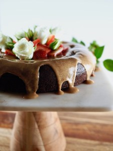Ultimate Paleo Flourless Chocolate Cake with Honey Almond Butter Glaze