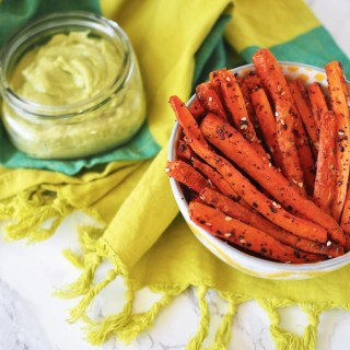 Baked Everything Carrot Fries