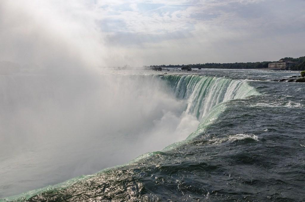 mist, niagara falls, river