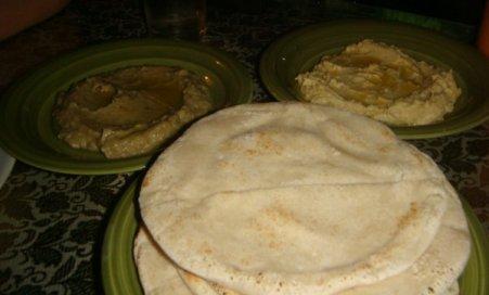 Hummus, Mutabbal and Arabian Khobiz