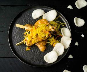 foodtruck met kip aziatisch