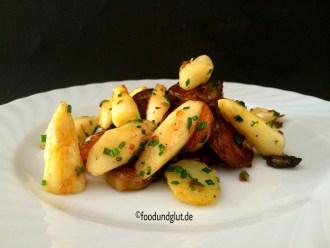 Spargel-Bratkartoffeln mit Schnittlauch