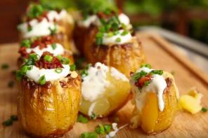 Kartoffelblumen vom Grill im Video