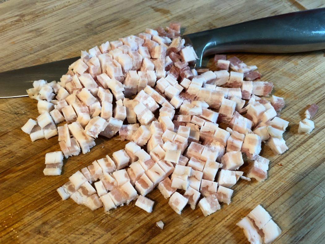 Schnelle Wirsing-Pasta mit Bacon