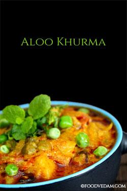 aloo khurma recipe