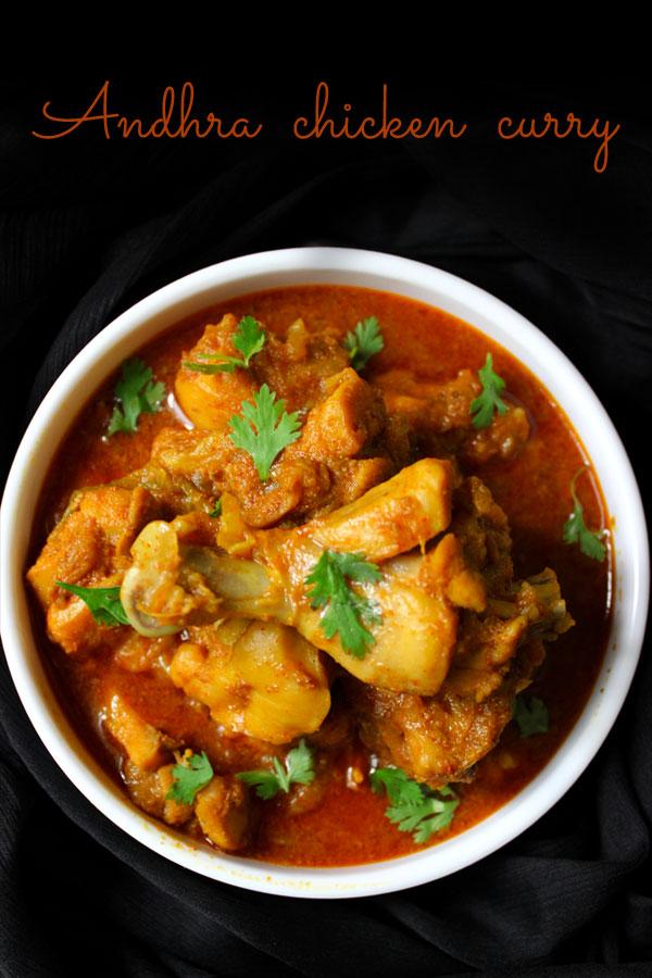 Andhra Chicken curry -Andhra kodi kura recipe- Foodvedam