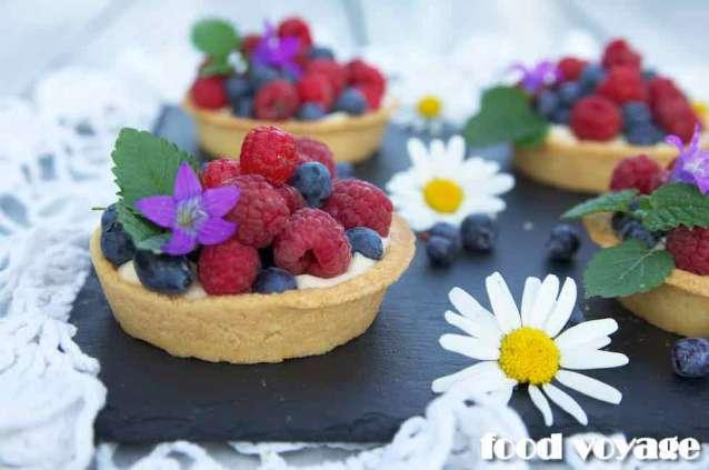 Корзиночки с Лесными ягодами и Сырно-Шоколадным кремом