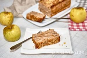 Яблочный пирог «Невидимый», без сахара и пшеничной муки