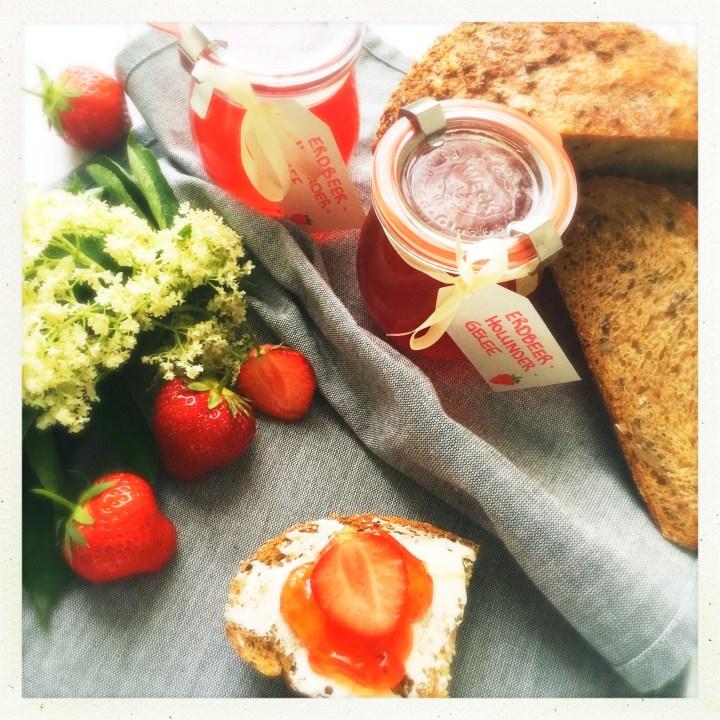 Holunder, erdbeeren, gelee, foodwerk.ch
