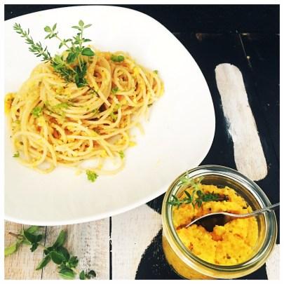 karottenpesto, pesto, spaghetti, foodwerk.ch