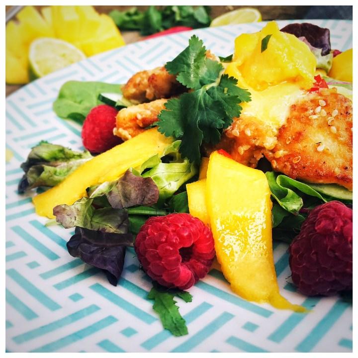 Hähnchen, Mango, Salat, foodwerk.ch
