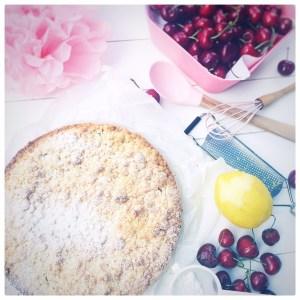 Kirschenkuchen, Streusel, foodwerk.ch