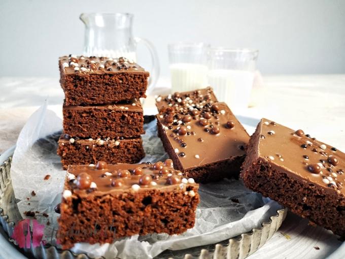 Livs Super Schokoladiger Blechkuchen Food Blog Schweiz Foodwerk Ch