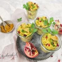 Reissalat mit Curry und Poulet (ohne Mayo)