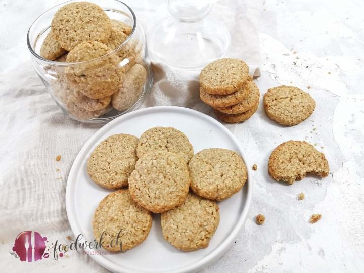 Kekse mit Haferflocken und Vollkornmehl 1