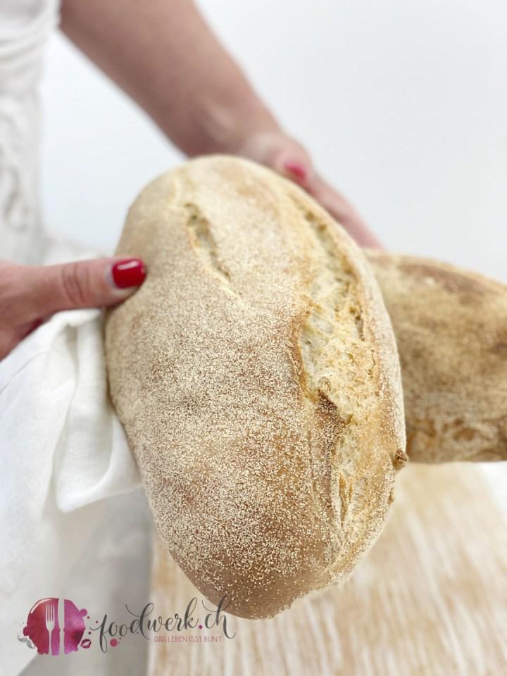 gebackenes Ciabatta Brot, der italienische Brot Klassiker