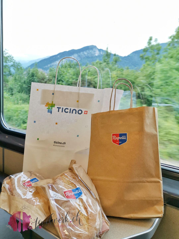 Rapelli Lunchpack im Zug