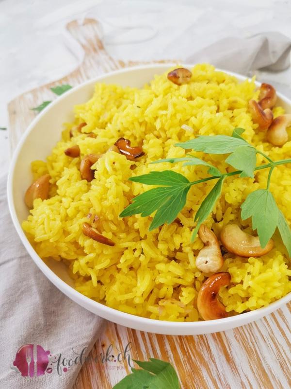 Safran Jasmin Reis mit Cashew