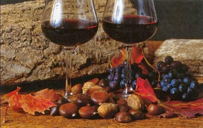 vino e castagne