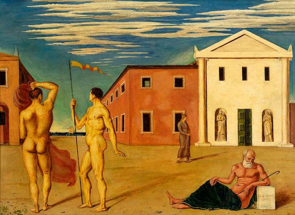 Itinerari dell arte de chirico e la pittura metafisica al for Pellizza da volpedo lo specchio della vita
