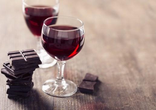cioccolata e vino rosso