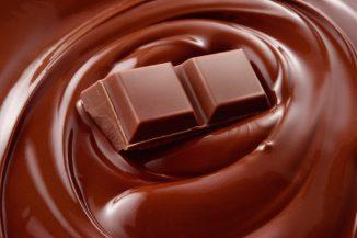 Melted chocolate background / melting chocolate/ chocolate background / chocolate bar