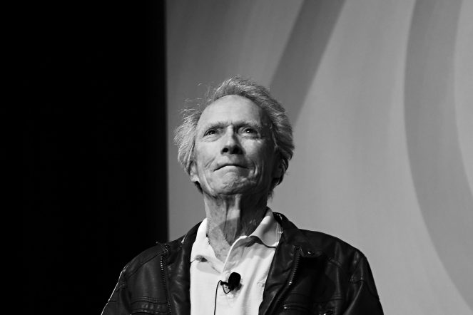 """US director Clint Eastwood attends """"The Clint Eastwood Cinema Lesson"""" during the 70th edition of the Cannes Film Festival in Cannes, southern France, on May 21, 2017. / AFP PHOTO / Anne-Christine POUJOULAT (Photo credit should read ANNE-CHRISTINE POUJOULAT/AFP via Getty Images)"""