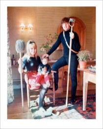 "John Lennon at home in Weybridge, England with first wife Cynthia and son Julian. ""I thought John & Cynthia were brilliant together. Despite everything that's been said about them since, they seemed to be a perfect couple."" - Robert Whitaker"