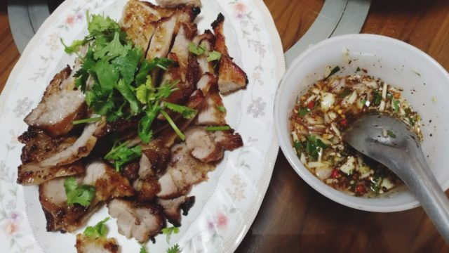 Thai Grilled Pork Neck with Nam Jim Jeaw