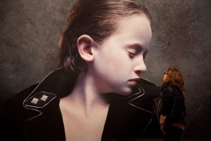 Gottfried-Helnwein-The-Murmur-of-the-Innocents-25-oil-acrylic-on-canvas-2011-200-x-342cm
