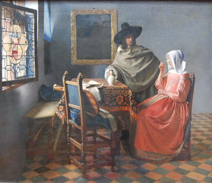 Homme et femme - Jan Vermeer, années 1660
