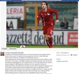 jovanotti facebook morosini il calciatore morto in campo