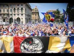 Coloriamo la città, la scooterata degli Ultras Tito Cucchiaroni della Sampdoria