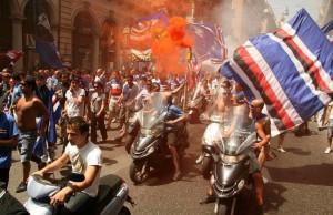 scooterata coloriamo la città ultras tito sampdoria