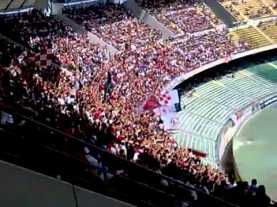 Coro ultras Bari contro il Salento