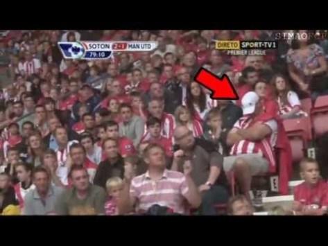 Il tifoso svegliato dal boato del goal del Southampton vs Man Utd