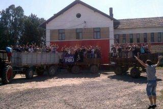 ultras sul trattore Politehnica Timisoara