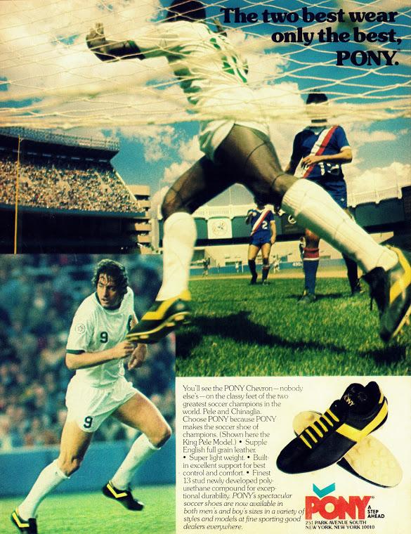 Pelè e Chinaglia spot Pony vintage 1977   Football a 45 giri