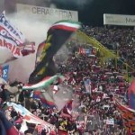 Cori ultras Curva Bulgarelli, Bologna vs Juve 16/03/2013