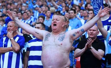 Sheffield Wednesday Fan Bare Chest