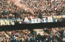 Inter: striscione in Curva Nord Milano