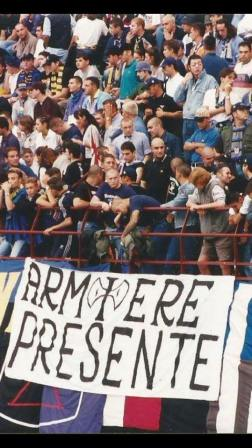 Inter: striscione per L'Armiere