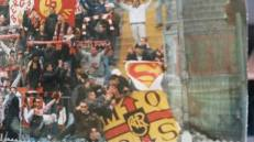 Roma: stendardo nel settore ospiti Atalanta vs Roma 1998
