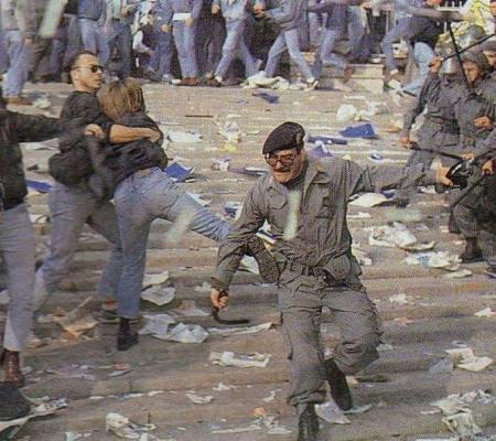 scontri lazio roma polizia 1990